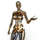 Żeński robot royalty ilustracja
