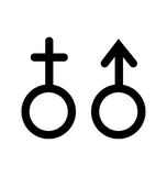 Żeński samiec znak Zdjęcie Royalty Free