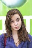 Żeński smirking nastolatek zdjęcia royalty free