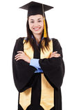 Żeński szkoła wyższa absolwent Fotografia Stock