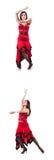 Żeński tancerz tanczy hiszpańskich tanów zdjęcia stock