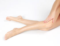 Żeńskie nogi Zdjęcia Royalty Free