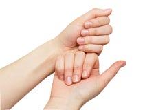 Żeńskie ręki Fotografia Stock