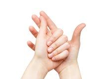 Żeńskie ręki Zdjęcia Royalty Free