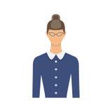 Żeńskiego nauczyciela avatar również zwrócić corel ilustracji wektora Obraz Royalty Free