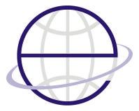 e地球徽标 库存照片