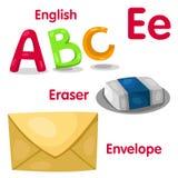 e字母表的以图例解释者 图库摄影