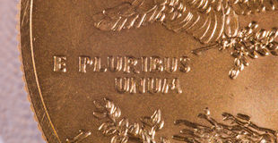 e宏观pluribus unum 库存图片
