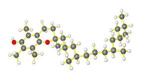 e模型分子维生素 免版税库存照片