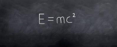 e爱因斯坦mc2 免版税库存图片