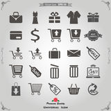 E被设置的营销和会员营销象 免版税库存图片