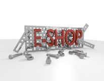 E购物金属建筑工具箱 库存照片