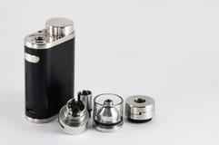 E香烟RDA, RTA rebuildable雾化器 免版税图库摄影