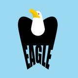 E έμβλημα γερακιών ενός πουλιού του θηράματος Σημάδι γερακιών Στοκ εικόνες με δικαίωμα ελεύθερης χρήσης
