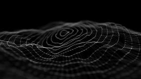E Αφηρημένο υπόβαθρο με ένα δυναμικό κύμα r r διανυσματική απεικόνιση