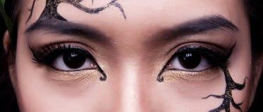 E Δημιουργικό makeup στοκ φωτογραφίες με δικαίωμα ελεύθερης χρήσης