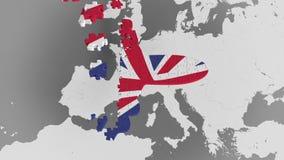 E Εννοιολογική τρισδιάστατη ζωτικότητα βρετανικού τουρισμού απόθεμα βίντεο