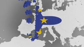 E Εννοιολογική τρισδιάστατη ζωτικότητα τουρισμού της ΕΕ απόθεμα βίντεο
