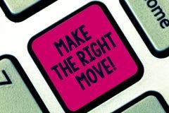 E Η έννοια έννοιας λαμβάνει τις σωστά αποφάσεις και μέτρα να ληφθεί το κλειδί πληκτρολογίων επιτυχίας στοκ εικόνα με δικαίωμα ελεύθερης χρήσης