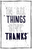 E Σε όλοι τα πράγματα δίνουν τις ευχαριστίες Στοκ Εικόνες