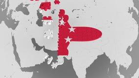 E Σιγκαπούριος εννοιολογική τρισδιάστατη ζωτικότητα τουρισμού φιλμ μικρού μήκους