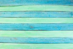 E Σκληρό ξύλο, ξύλινο σιτάρι, οργανικό υλικό ύφος grunge πράσινη και μπλε ξύλινη τοπ άποψη επιφάνειας στοκ φωτογραφία με δικαίωμα ελεύθερης χρήσης