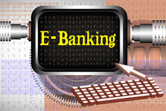 e-банк Стоковые Фотографии RF