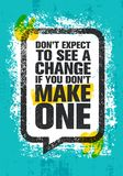 E Воодушевляя творческий шаблон плаката цитаты мотивировки бесплатная иллюстрация