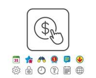 E Знак валютной биржи иллюстрация штока