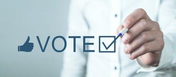E Избрание Время проголосовать стоковые фото