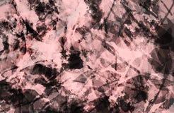 E Красочная пурпурная и черная текстура grunge Brushstrokes краски Краска брызгает Современная картина стоковые изображения rf