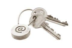 e пользуется ключом почта Стоковые Фото