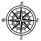 E Ретро морской морской составляя карту символ для карты advenure мира сокровища Значок ветра вектора розовый бесплатная иллюстрация