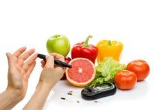 E свежие фрукты, концепция для диабета, уменьшая, здоровые питание и усиливать невосприимчивость стоковое фото