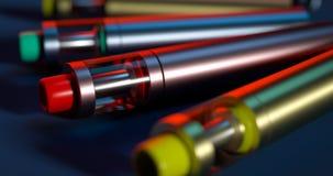 E-сигареты на черной предпосылке Стоковое Фото