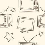 E телевизор doodle r иллюстрация штока