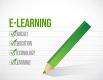 E уча дизайн иллюстрации контрольного списка Стоковые Изображения