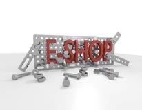 E-Ходит по магазинам набор конструкции металла иллюстрация штока