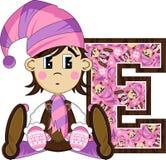 E для эльфа Стоковое Изображение