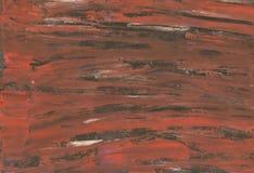 E 与黑油漆粗糙的冲程的有趣的棕色水彩背景  向量例证