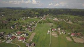 E 中欧:镇或村庄在青山中位于 r ??dron 股票录像