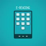 E读书在平的样式的传染媒介概念 库存照片