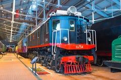E 俄国 圣彼德堡 俄罗斯2017年12月21的博物馆铁路日 免版税库存图片