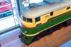 E 俄国 圣彼德堡 俄罗斯2017年12月21的博物馆铁路日 免版税库存照片