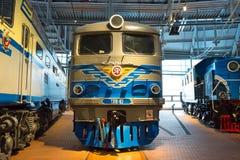E 俄国 圣彼德堡 俄罗斯2017年12月21的博物馆铁路日 库存图片