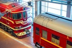 E 俄国 圣彼德堡 俄罗斯2017年12月21的博物馆铁路日 库存照片