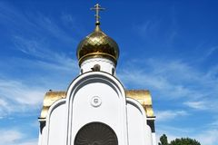 E 先知何西亚的教堂苏维埃正方形的在夏天在阿纳帕 免版税库存图片