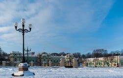E 冬天 雪 晴朗的早晨 免版税库存照片