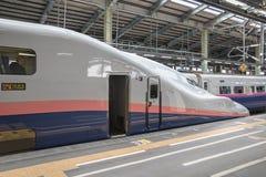 E4系列子弹(高速)火车 免版税库存图片