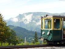 E 导致Jungfraujoch的齿轨铁路 图库摄影